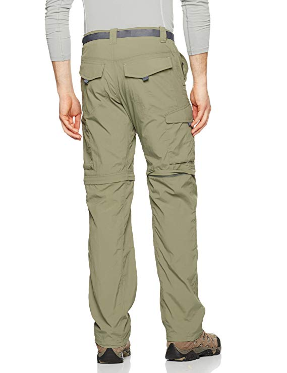 Breathable UPF 50 Sun Protection Columbia Mens Silver Ridge Convertible Pant